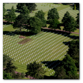 :: Pulse para Ampliar :: Aerial view of the Normandy American Cemetery and Memorial in Colleville-sur-Mer, France, June 6, 2014.