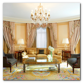 :: Pulse para Ampliar :: Hotel Westin Palace Madrid: recibidor de la Royal Suite