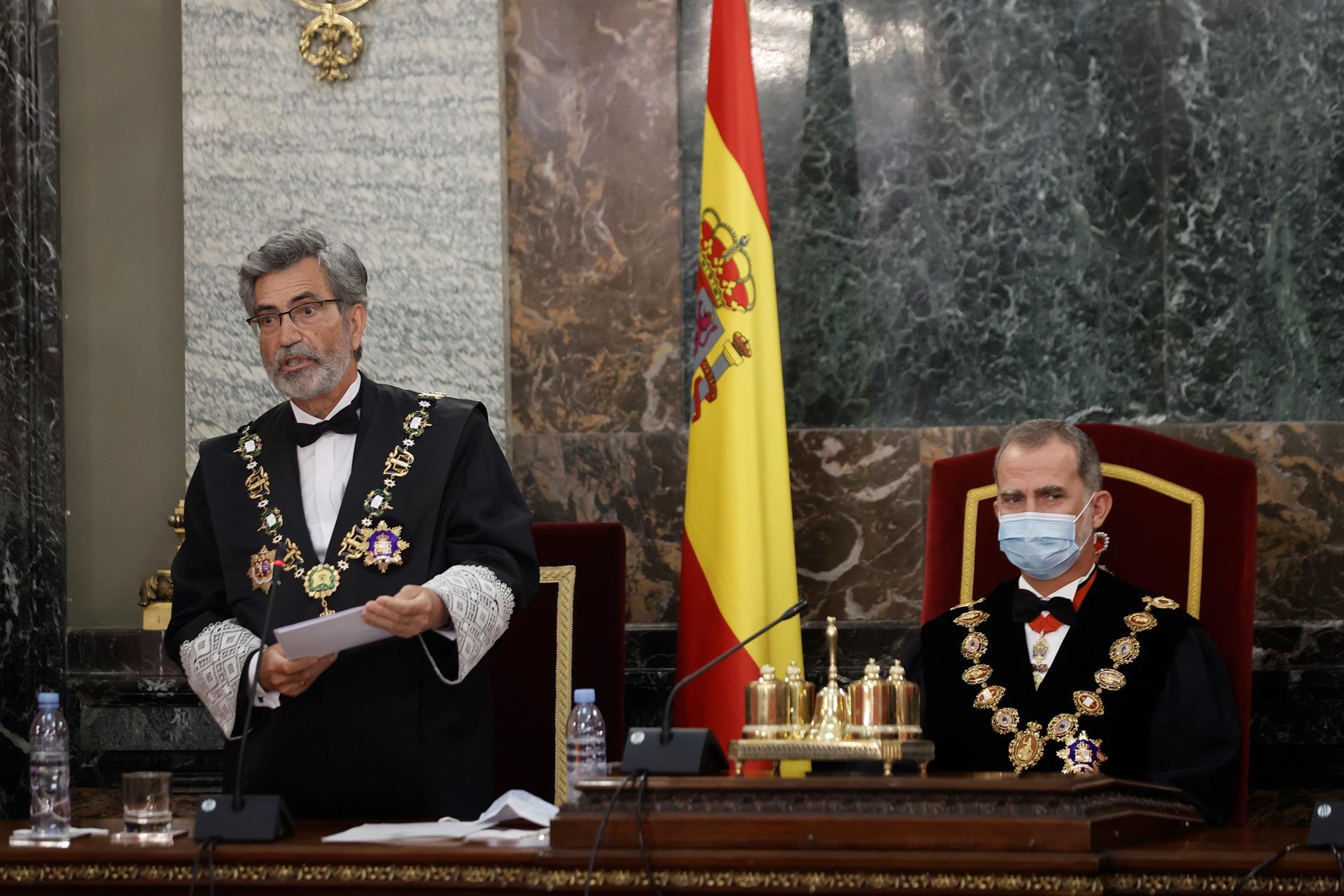 El rey abre un curso judicial bronco por la crisis institucional con el CGPJ